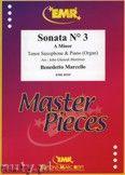 Okładka: Marcello Benedetto, Sonata N° 3 in A minor - Saxophone