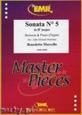 Okładka: Marcello Benedetto, Sonata N° 5 in Bb major - BASSOON