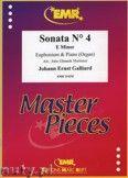 Okładka: Galliard Johann Ernst, Sonata N° 4 in E minor - Euphonium