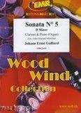 Okładka: Galliard Johann Ernst, Sonata N° 5 in D minor - CLARINET