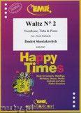 Okładka: Szostakowicz Dymitr, Waltz N° 2 for Trombone, Tuba and Piano
