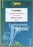 Okładka: Clarke Herbert, Cousins for Euphonium, Tuba and Piano