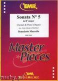 Okładka: Marcello Benedetto, Sonata N° 5 in Bb major - CLARINET