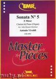 Okładka: Vivaldi Antonio, Sonata N° 5 in E minor - CLARINET