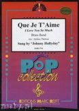 Okładka: Thibaut Lucien, Renard Jean, Que je t'aime (sung by Johnny Hallyday) - BRASS BAND