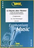 Okładka: Sturzenegger Kurt, 12 Duette Alter Meister - Euphonium