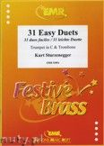 Okładka: Sturzenegger Kurt, 31 Duos faciles (Trompete in C) - BRASS ENSAMBLE