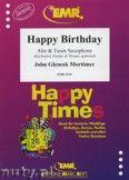 Okładka: Mortimer John Glenesk, Happy Birthday for Alto and Tenor Saxophone