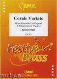 Okładka: Koetsier Jan, Corale Variato for Brass Ensemble