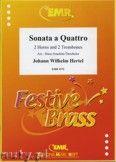 Okładka: Hertel Johann Wilhelm, Sonata a Quattro for 2 Horns and 2 Trombones
