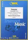 Okładka: Bach Johann Sebastian, Sonata in C Major (BWV 31/1) for 3 Trumpets, Timpani and Organ