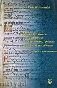 Okładka: Wiśniewski Ks. Piotr, Oficjum rymowane o św. Zygmuncie w antyfonarzach płockich z przełomu XV/XVI wieku. Studium historyczno-muzykologiczne.