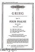 Okładka: Grieg Edward, Cztery psalmy op.74