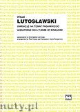 Okładka: Lutosławski Witold, Wariacje na temat Paganiniego