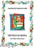 Okładka: Koszewski Andrzej, Trittico de messa