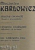 Okładka: Karłowicz Mieczysław, Smutna opowieść (preludia do wieczności) op.13- poemat symfoniczny- partytura Dzieła X