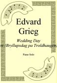 Okładka: Edvard Grieg, Wedding Day At Troldhaugen (Bryllupsdag pa Troldhaugen) Op. 65 No. 6