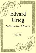 Okładka: Edvard Grieg, Notturno Op. 54 No. 4