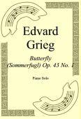Okładka: Edvard Grieg, Butterfly (Sommerfugl) Op. 43 No. 1