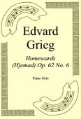 Okładka: Edvard Grieg, Homewards (Hjemad) Op. 62 No. 6