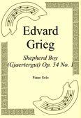 Okładka: Edvard Grieg, Shepherd Boy (Gjaertergut) Op. 54 No. 1