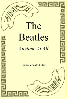 Ok�adka: The Beatles, Anytime At All