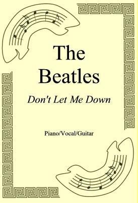 Okładka: The Beatles, Don't Let Me Down