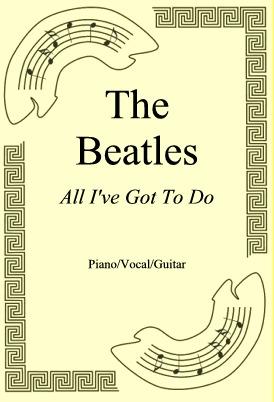 Okładka: The Beatles, All I've Got To Do
