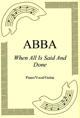 Ok�adka: ABBA, When All Is Said And Done