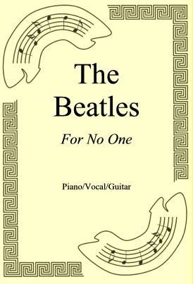 Okładka: The Beatles, For No One
