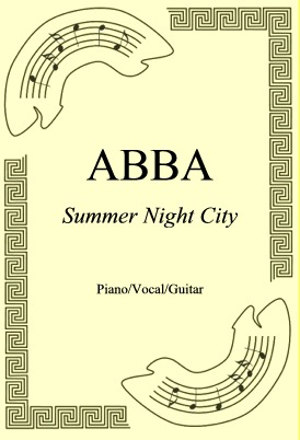 Okładka: ABBA, Summer Night City