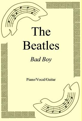 Okładka: The Beatles, Bad Boy