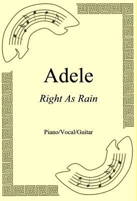 Okładka: Adele, Right As Rain