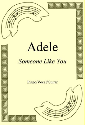 Okładka: Adele, Someone Like You