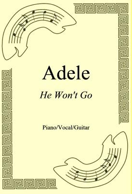 Okładka: Adele, He Won't Go