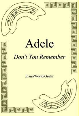 Okładka: Adele, Don't You Remember