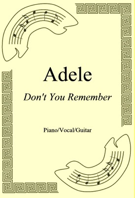 Okładka: Adele, Don't You Remember