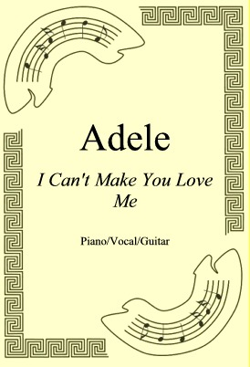 Okładka: Adele, I Can't Make You Love Me