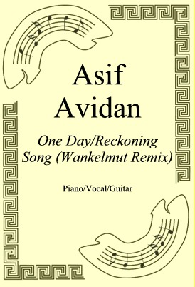 Okładka: Asif Avidan, One Day/Reckoning Song (Wankelmut Remix)