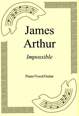 Okładka: James Arthur, Impossible