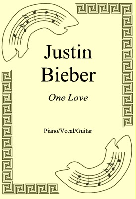 Okładka: Justin Bieber, One Love