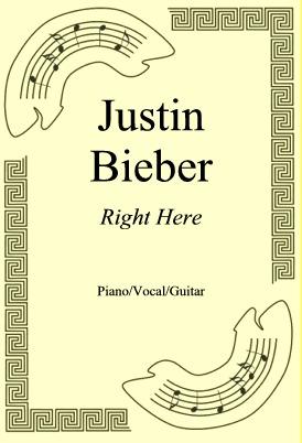 Okładka: Justin Bieber, Right Here