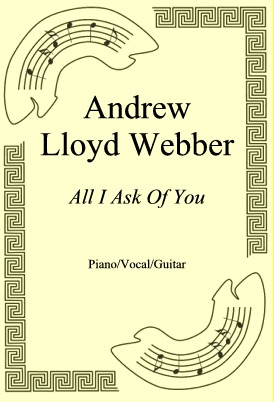 Ok�adka: Andrew Lloyd Webber, All I Ask Of You