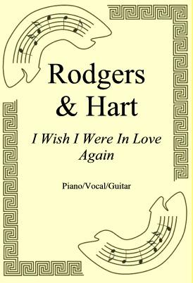 Okładka: Rodgers & Hart, I Wish I Were In Love Again