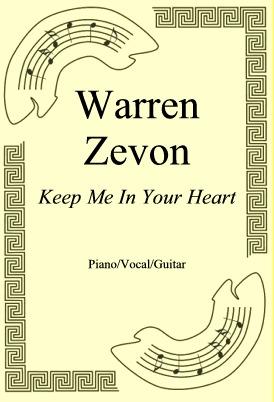 Okładka: Warren Zevon, Keep Me In Your Heart