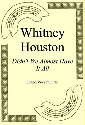 Okładka: Whitney Houston, Didn't We Almost Have It All
