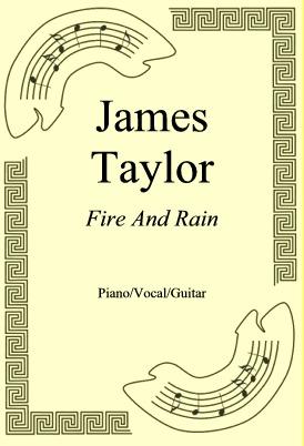 Okładka: James Taylor, Fire And Rain