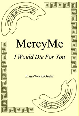 Okładka: MercyMe, I Would Die For You