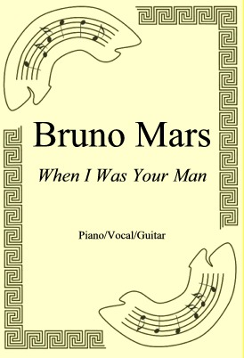 Okładka: Bruno Mars, When I Was Your Man