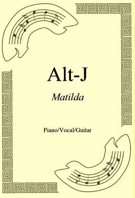 Okładka: Alt-J, Matilda
